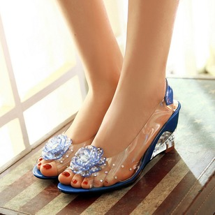 Heels Leatherette Wedge Heel Shoes