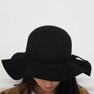 Casual Polyester Bow Others Solid Hats