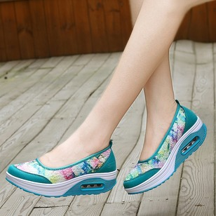 Flower Wedge Heel Shoes