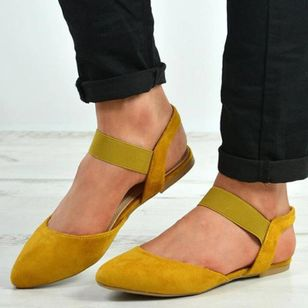Women's Elastic Band Flats Flat Heel Flats Pumps (4347854)
