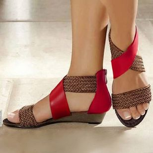 Women's Knit Wedge Heel Sandals (1319625)