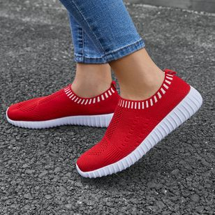 Women's Low Top Fabric Flat Heel Sneakers (1534774)