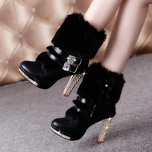 Women's Boots Ankle Boots Stiletto Heel PU Shoes