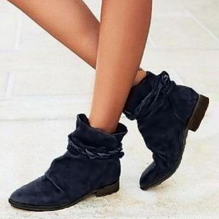Women's Lace-up High Top Low Heel Boots (1389441)