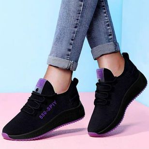 Women's Lace-up Flats Flat Heel Sneakers (146904693)