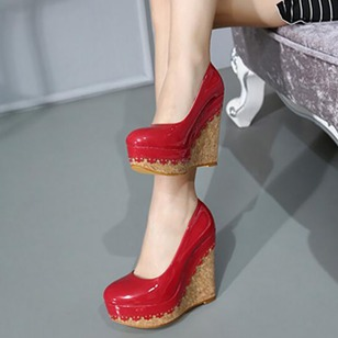 Women's Wedges Closed Toe Wedge Heel PU Shoes