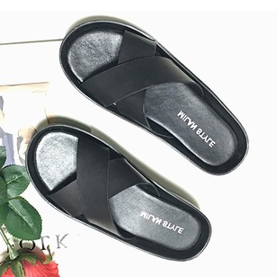 Slippers Real Leather Flat Heel Shoes