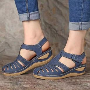 Women's Buckle Flats Low Heel Sandals (1515539)