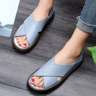 Hollow-out Flats Flat Heel Shoes