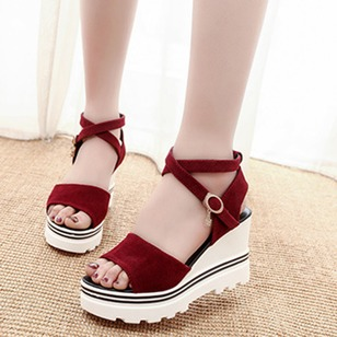 Women's Sandals Sandals Wedge Heel Nubuck Shoes