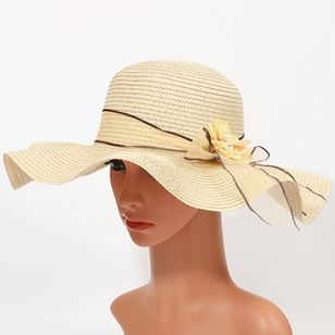 Casual Bow Floral Hats (4456833)