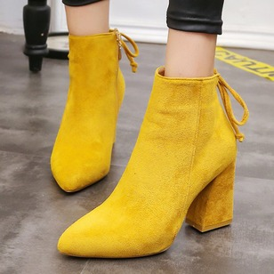 Women's Boots Ankle Boots Chunky Heel Nubuck Shoes