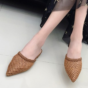 Knit Net Surface Slippers Cloth Low Heel Shoes