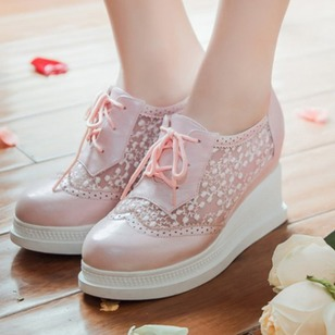 Women's Wedges Wedges Wedge Heel PU Shoes