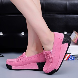 Elastic Band Wedge Heel Shoes