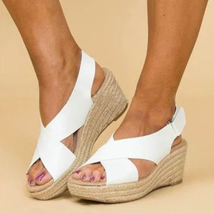 Women's Velcro Slingbacks Wedge Heel Sandals (1314370)