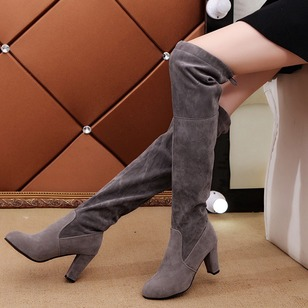 Over The Knee Boots Chunky Heel Shoes