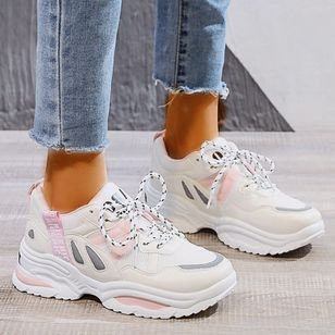 Women's Lace-up Closed Toe Wedge Heel Sneakers (100321262)