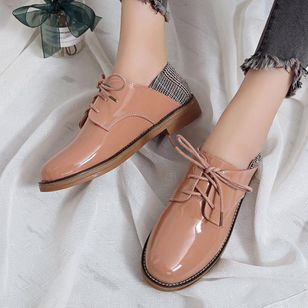 Lace-up Flats Flat Heel Shoes