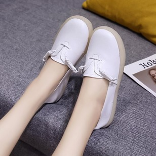 Lace-up Flats PU Low Heel Shoes