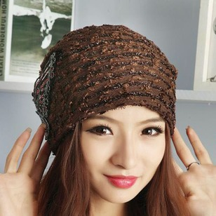 Casual Cotton Blends Appliques Stripe Hats