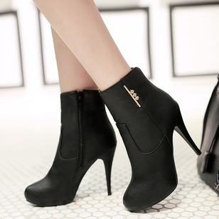 Others Ankle Boots Leatherette Stiletto Heel Shoes