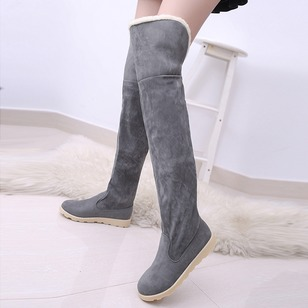 Women's Boots Over The Knee Boots Flat Heel PU Shoes