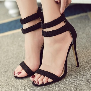 Women's Sandals Sandals Stiletto Heel Nubuck Shoes