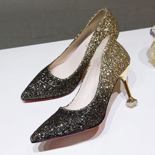 Sequin Pointed Toe Stiletto Heel Shoes