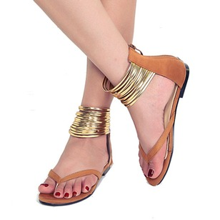Ankle Strap Sandals Nubuck Flat Heel Shoes