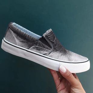 Women's Elastic Band Flats Canvas Flat Heel Loafers (4101496)