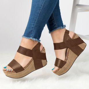 Slingbacks Wedge Heel Shoes
