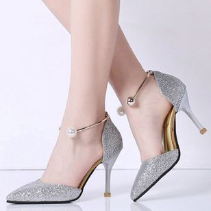 Women's Beading Closed Toe Stiletto Heel Pumps (1174606)