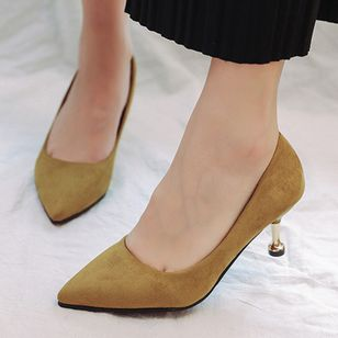 Women's Pointed Toe Cloth Stiletto Heel Pumps (1358912)