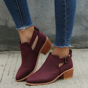 Buckle Pointed Toe Low Heel Shoes