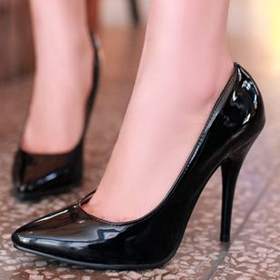 Women's Heels Patent Leather Stiletto Heel Pumps (1515490)