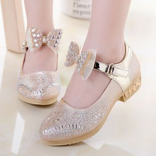 Girls' Beading Bowknot Buckle Crystal Wedding Girls' Shoes