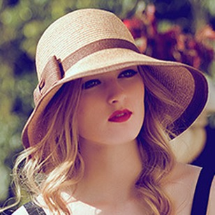 Casual Straw Bow Others Color Block Hats