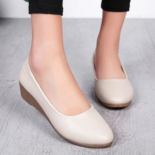 Women's Closed Toe Round Toe Wedge Heel Wedges (102930873)
