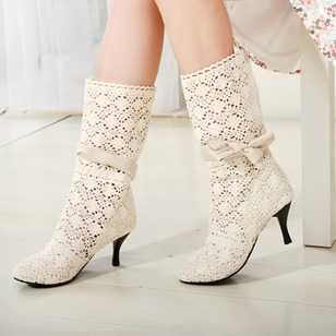 Sandals Ankle Boots Leatherette Stiletto Heel Shoes