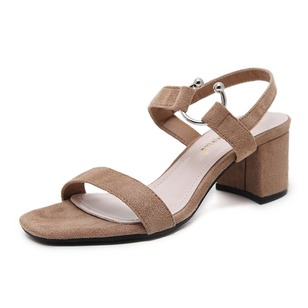 Women's Sandals Pumps Chunky Heel Suede Shoes
