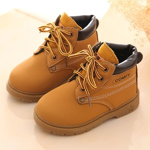 Boys' Lace-up Split Joint Stitching Lace Outdoor Boys' Shoes