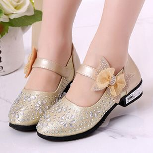 Girls' Bowknot Crystal Party & Evening Girls' Shoes