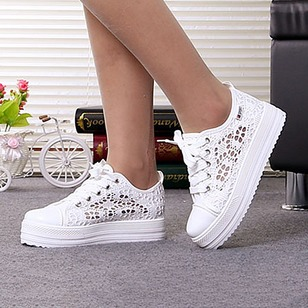 Women's Platforms Platform Low Heel Canvas Shoes