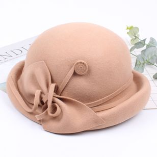 Elegant Bow Solid Hats