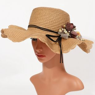 Elegant Flowers Solid Hats (4126958)