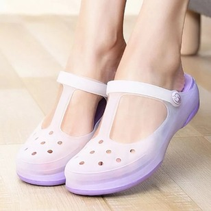 Hollow-out Slippers Plastics Flat Heel Shoes