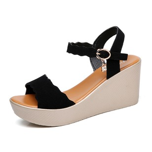 Women's Wedges Wedge Heel Patent Leather Shoes