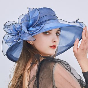 Elegant Flowers Solid Hats (4126954)