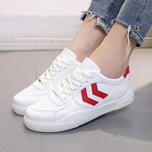 Lace-up Closed Toe PU Flat Heel Shoes